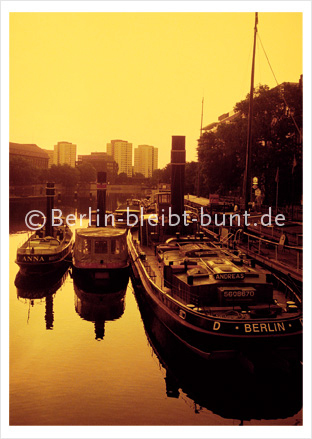 Postkarte GS-195 / Berlin - Spree River