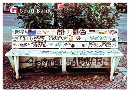 Postkarte Nr. 209 / Berlin-Good Bank