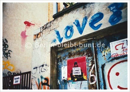 Postkarte GS-222 / Berlin - Graffity