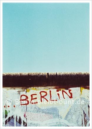 Postcard GS- 226 / Berlin - The Berlin Wall