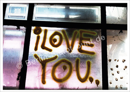 Postkarte GS-284/ Berlin - I Iove you